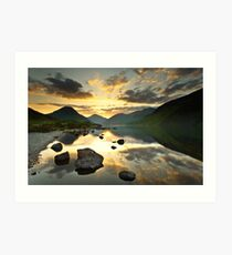 Reflections on Wastwater Art Print