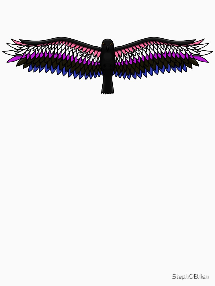 Fly With Pride, Raven Series - Genderfluid by StephOBrien