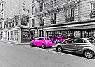 Barbie's Beetle on the Parisian street by Yelena Rozov
