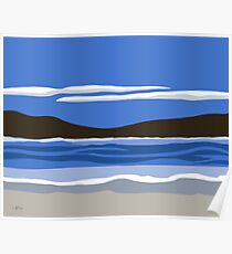 Contemporary  Seascape Poster
