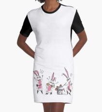 Bunny Graphic T-Shirt Dress