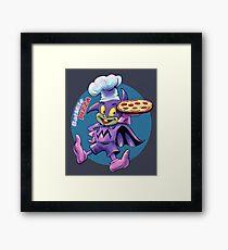 Batmite Pizza Framed Print