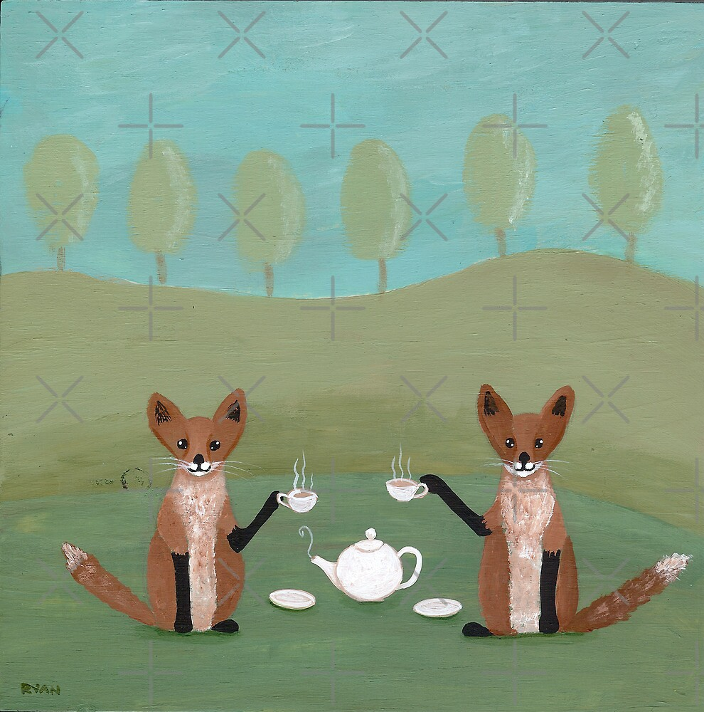 Foxes for Tea by Ryan Conners