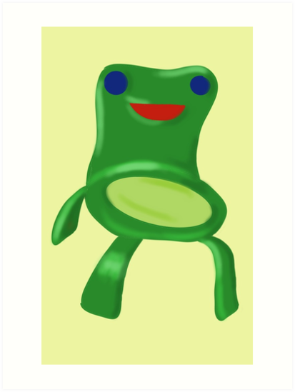 Animal Crossing Froggy Chair Kunstdruck Von Snowcake Redbubble