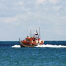 Mersey Class Lifeboat off on a Shout by Mike HobsoN