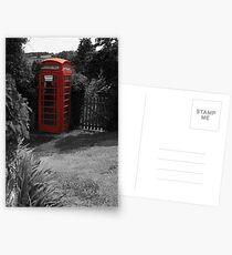 British phone box Postcards