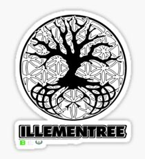Illementree Logo Merch 2 - solid white flower Sticker