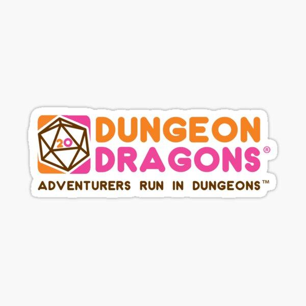 Dunkin Dungeon Dragon Donuts  Sticker