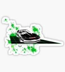 Knight Rider II with splatters - Old Skool - Just for fun Sticker