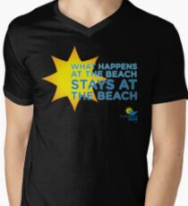 What Happens at the Beach.... Mens V-Neck T-Shirt