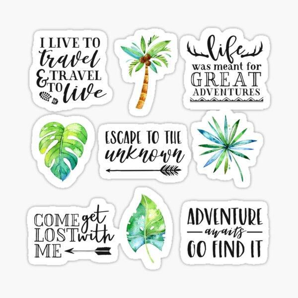 Adventure Quotes - Multi Design Set Glossy Sticker