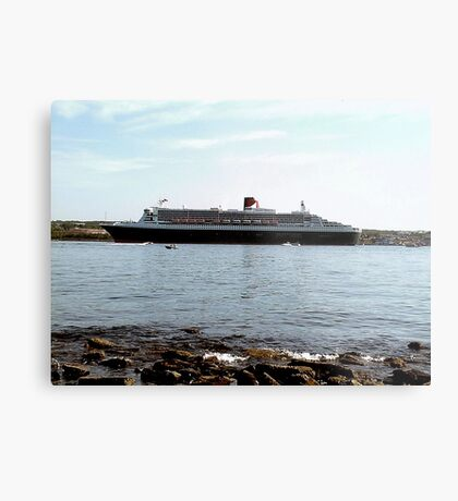 Queen Mary 2 arriving at Halifax Metal Print