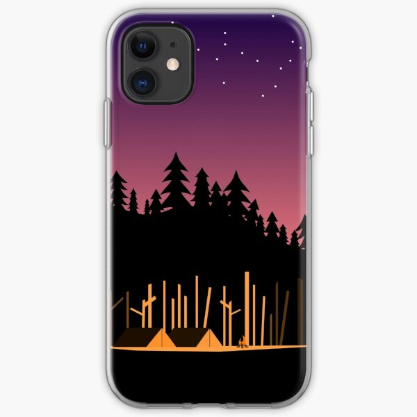 Camping Under the Stars in the Great Outdoors iPhone Soft Case
