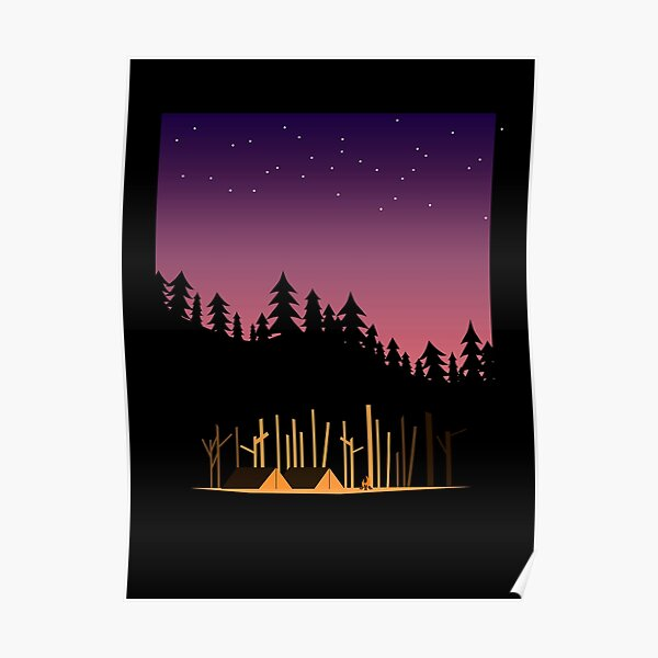 Camping Under the Stars in the Great Outdoors Poster