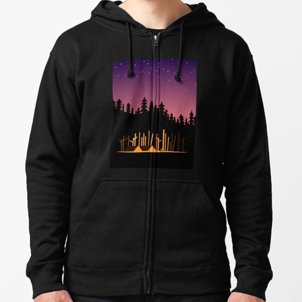 Camping Under the Stars in the Great Outdoors Zipped Hoodie