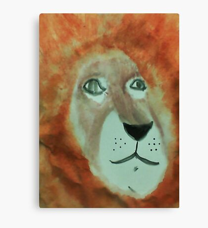 Lion,for my Africa Series, watercolor Canvas Print