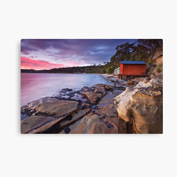 Coningham Beach Boat Sheds Canvas Print