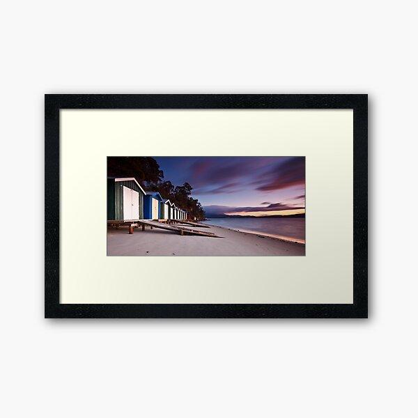 Coningham Beach Boat Sheds #2 Framed Art Print
