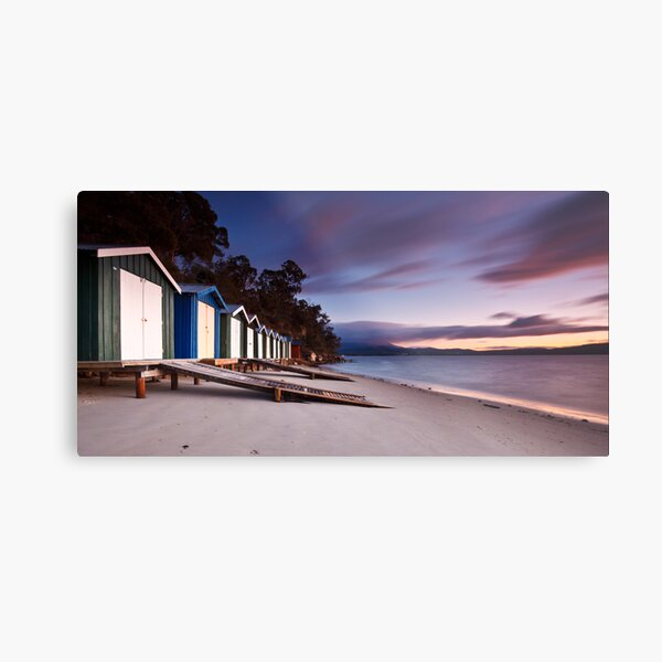 Coningham Beach Boat Sheds #2 Metal Print