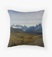 Road to the Mountains - El Chalten, Argentina Throw Pillow
