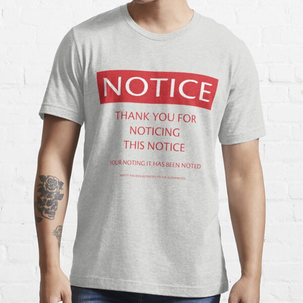 Buffa's Notice Essential T-Shirt