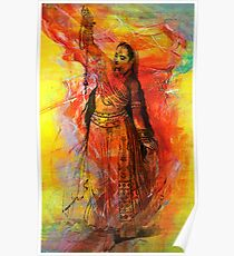 WOMAN OF INDIA WITH SACRED BEADS Poster