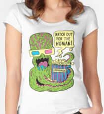 Alien Monster Movie Women's Fitted Scoop T-Shirt