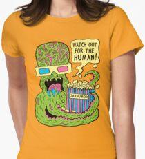 Alien Monster Movie Womens Fitted T-Shirt