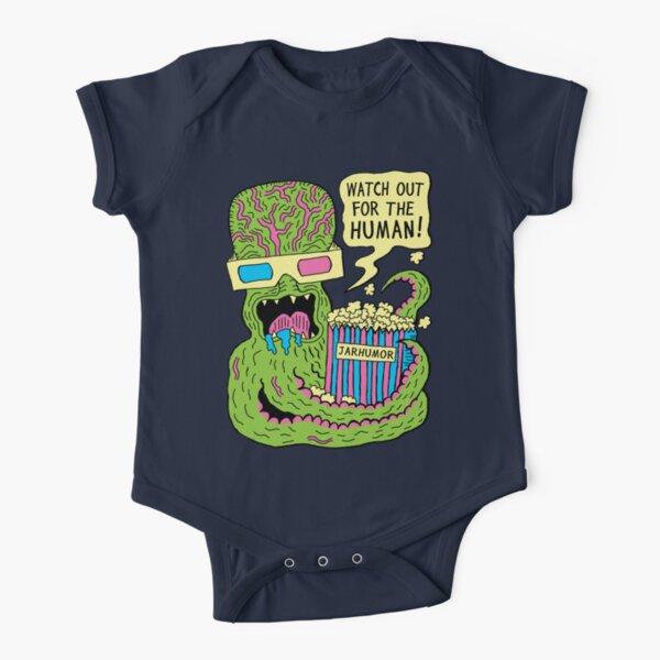 Alien Monster Movie Short Sleeve Baby One-Piece