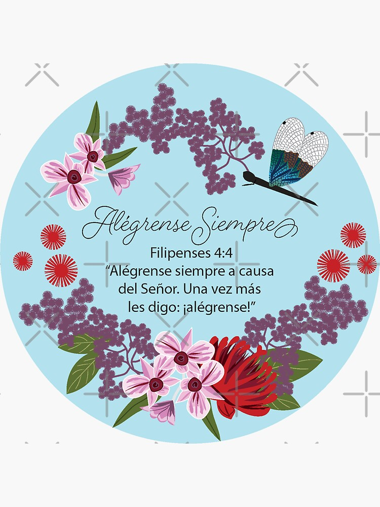 Spanish Dragonfly Floral Always Rejoice by CreativeContour
