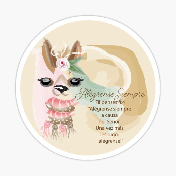 Spanish Llama Always Rejoice Sticker