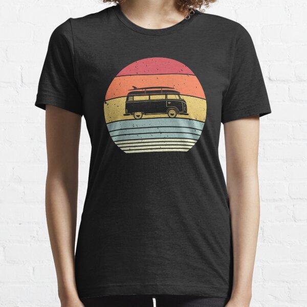 Camping Graphic. Retro Style Camper Van Design Essential T-Shirt