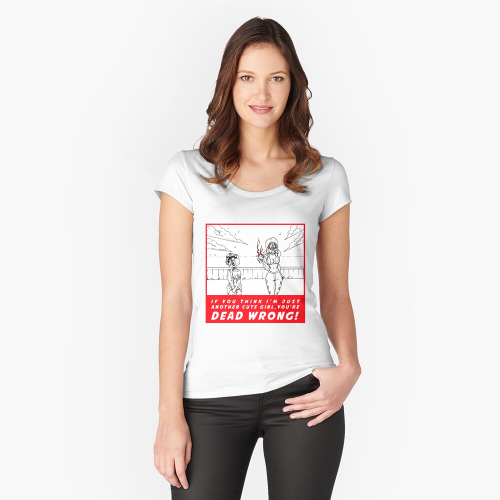 Nami - Navigator - Powerhouse girl that leads an entire pirate crew! Fitted Scoop T-Shirt