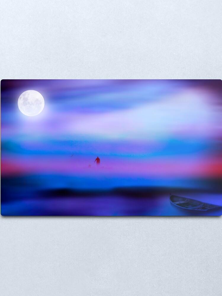 Alternate view of Moon River Metal Print