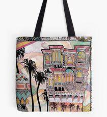 Palm Trees and Havelis Tote Bag