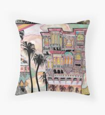 Palm Trees and Havelis Throw Pillow
