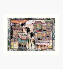 Palm Trees and Havelis Art Print