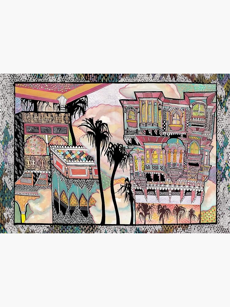 Palm Trees and Havelis by mariumrana