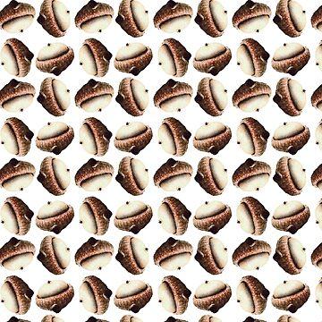 Acorn Pattern by bunhuggerdesign