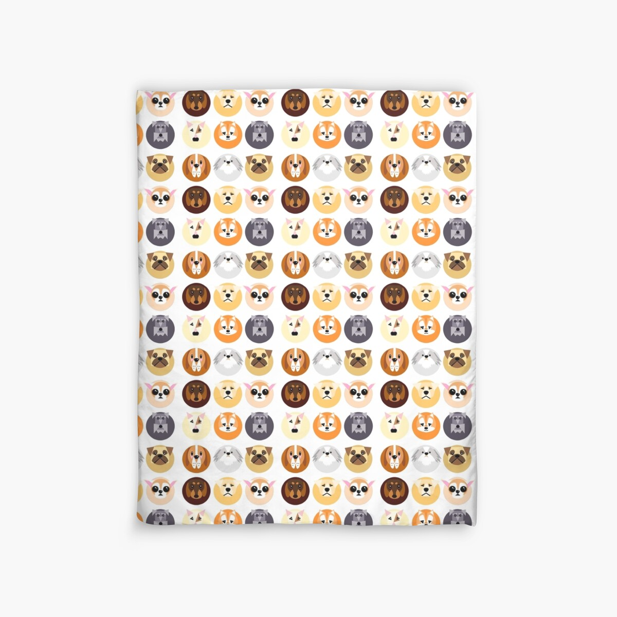 Quot Chubby Puppy Spot Pattern Quot Duvet Covers By Nab92 Redbubble