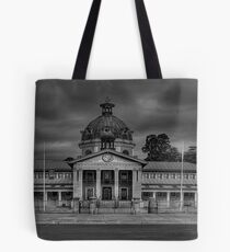 Colonial Elegance- B&W (45 Exposure HDR Panorama) - Bathurst Court House c1880, Bathurst, NSW Australia - The HDR Experience Tote Bag