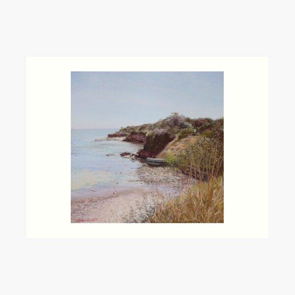 Along the coastal trail Art Print