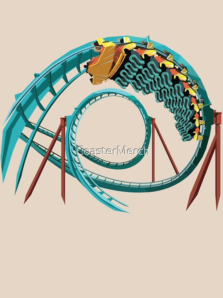 Kumba B&M Sit Down Coaster - Busch Gardens Design by CoasterMerch