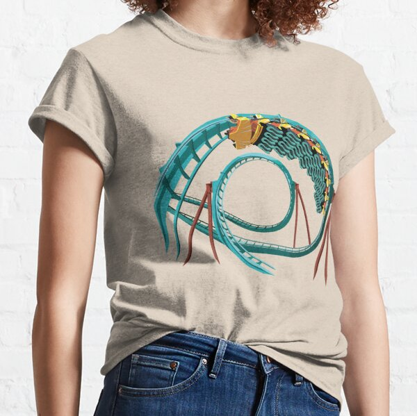 Kumba B&M Sit Down Coaster - Busch Gardens Design Classic T-Shirt