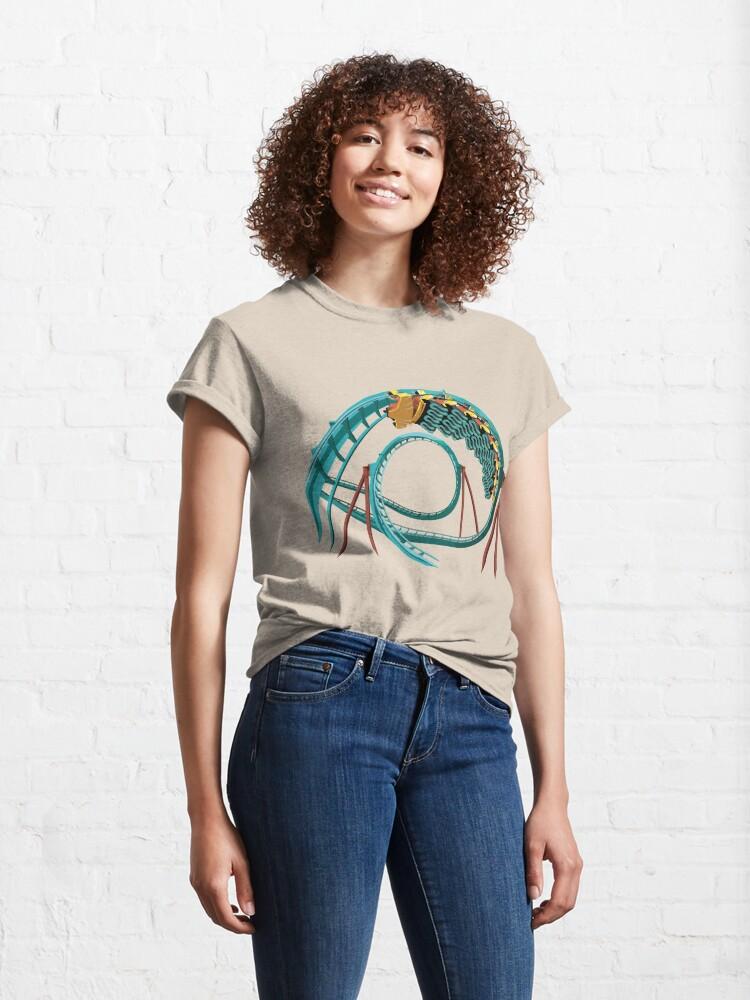 Alternate view of Kumba B&M Sit Down Coaster - Busch Gardens Design Classic T-Shirt