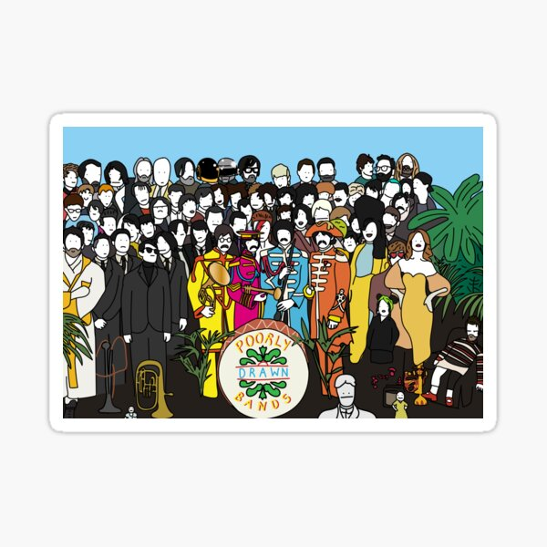 Yellow Submarine Beatles Lonely Hearts Awesome Retro Lennon Rock Cool Sticker