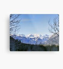 Mighty Views of the Canadian Rockies Metal Print