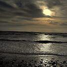 Sunset at Sandbay uk by Ian Reeley