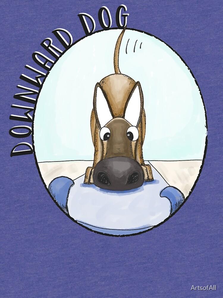 Yoga Dog by ArtsofAll