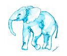 Elephant Watercolor Sketch by Kendra Shedenhelm